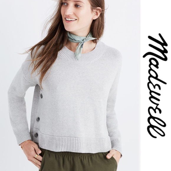 da7f8c330de Madewell Sweaters - Madewell Brownstone Side Button Sweater